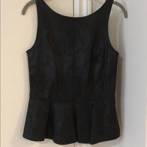Zara faux leather peplum top black small